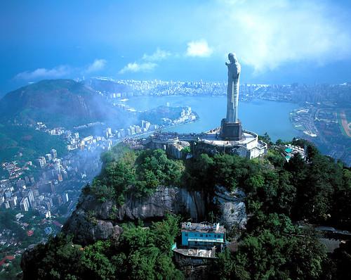 [フリー画像素材] 建築物・町並み, 都市, 彫刻・彫像, キリスト教, 風景 - ブラジル ID:201111031600