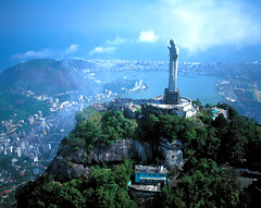 [Free Images] Architecture, City, Sculptures, Christianity, Landscape - Brazil ID:201111031600