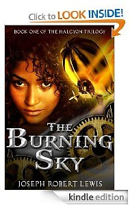 The Burning Sky novel, steampunk Lewis