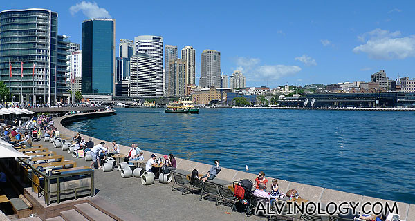 Lively waterfront during the weekend
