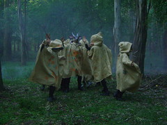 dancing ritual (Valeria Dalmon) Tags: forest wolf hare goat escultura masks clay owl shooting filmacion cartapesta valeriadalmon