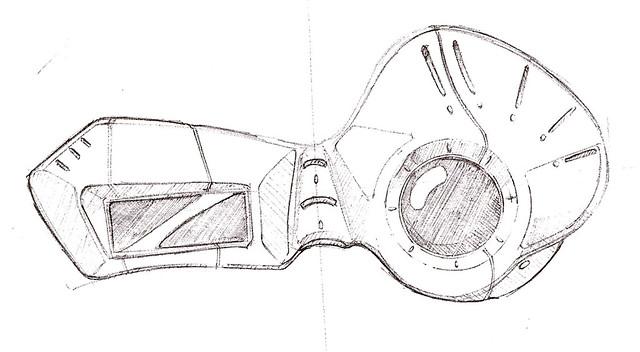 Spider Goggle Sketch
