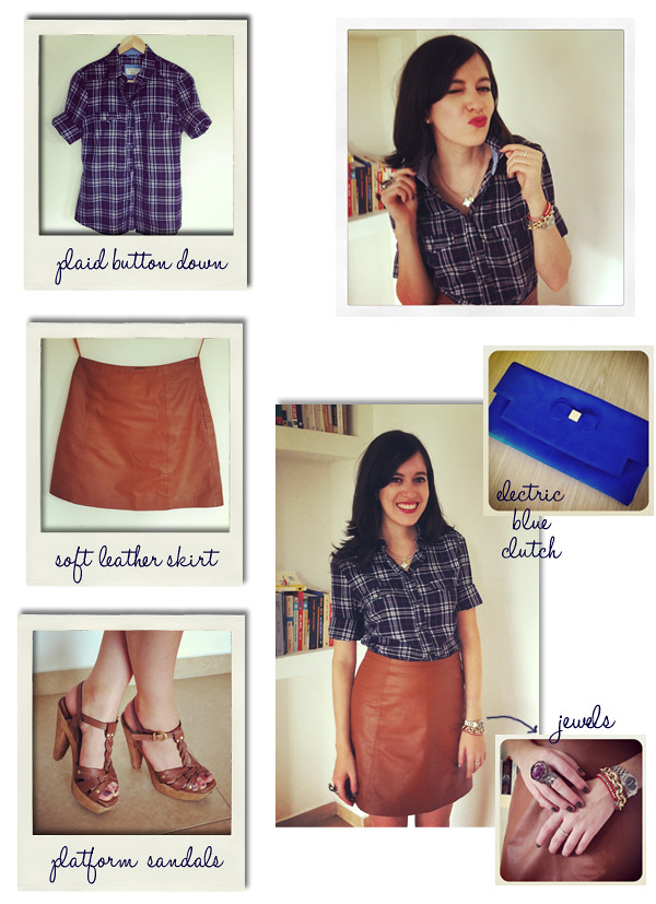 plaid_blouse_leather_skirt