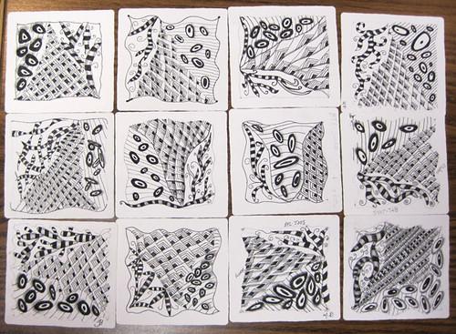 Zentangle workshop 17 October 2011