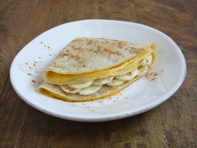 Pumpkin stuffed crêpes