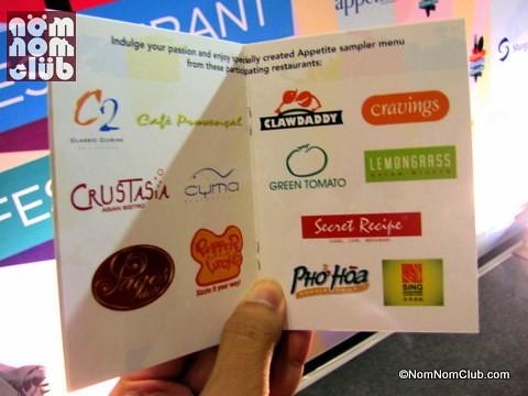 Appetite Restaurant Festival Passport