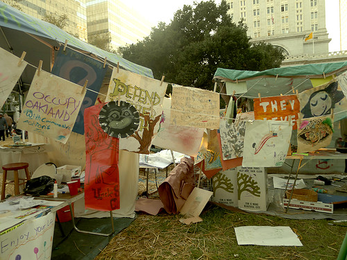 The Art Tent that USED TO BE at Occupy Oakland (Photo: bluecinema, flickr)