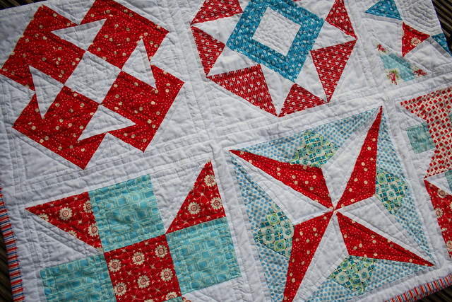 summer sampler detail quilting