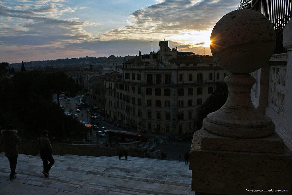 Escalier de Simone Andreozzi et ses 124 marches de marbre, la Scalinata d'Aracoeli