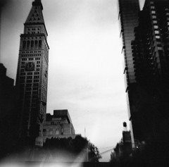 Diana camera Lomography 120 mm film Black and White Flat Iron District Flat iron Building NY Life Building New York Life Building (moonman82) Tags: nyc newyorkcity blackandwhite bw white newyork black nature architecture composition analog design town lomography construction habit character content structure formation diana frame type form essence dianacamera build flatironbuilding contents newyorklifebuilding physique temper habitus disposition vitality flatirondistrict temperament 120mmfilm nylifebuilding townnewyork picturesofcitybuildings newyorkcitybuildingsblackandwhite blackandwhitelomographynyc