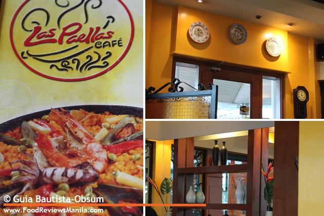 Las Paellas menu and interior