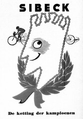The Champions Chain: Sibeck (letterlust) Tags: illustration advertising fifties ad annonce 1950s 50s 1950 adverts advertentie jaren50 aos50 bicyclehistory dutchbicyclehistory letterlust fnfzigerjahren