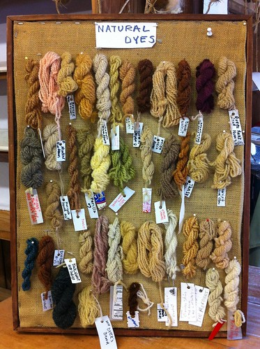 From the Dye Shed at Rhinebeck Sheep and Wool Fair October 2011