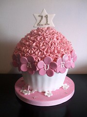 Giant Cupcake - buttercream (trulycrumbtious) Tags: birthday cake giant cupcake buttercream piped