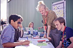 Brainstorming at PICNIC (NDSM Werf) Tags: amsterdam maurice mikkers ndsm photodispatch picnic11 wharf picnic festival werf city