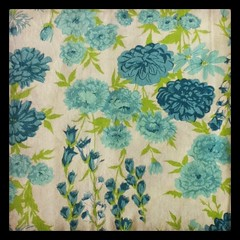 Vintage Sheet: Blue Green