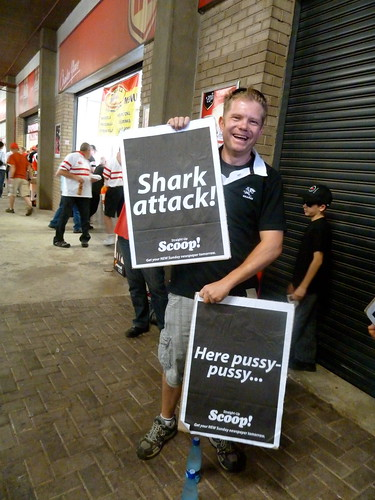 Curits supports the sharks...