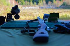 Kivri ja varusteet (Timo Vehvilinen) Tags: autumn fall gun dof bokeh rifle competition kilpailu syksy firearm ase loppi vares kivri vantaanreserviliset 3asentokilpailu