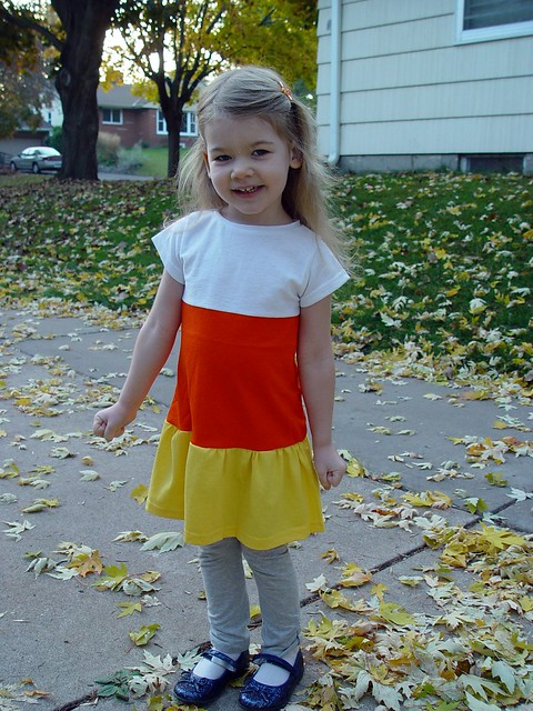 candy corn dress, view 1