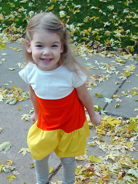 candy corn dress, view 2