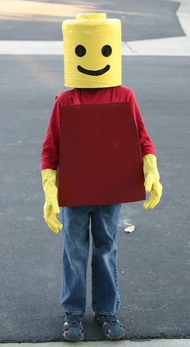 Little Man's mini-fig costume