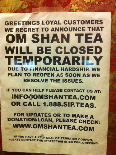Om Shan Tea: CLOSED!