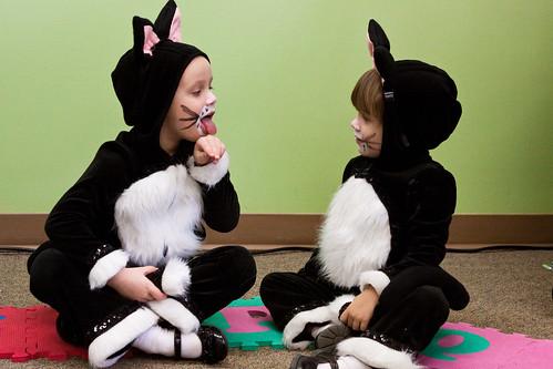 Halloween kids cat costume homemade