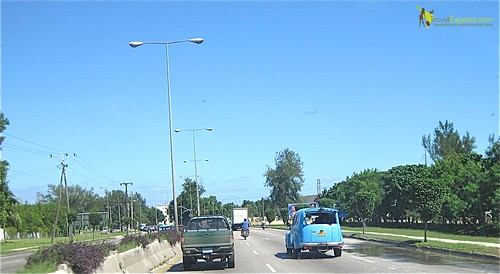 Cars on a Cuba Highway