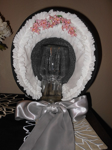 Teal Pink Straw Bonnet