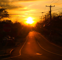 Sunset (goodbyetrouble) Tags: road street sunset usa sun sonnenuntergang sundown massachusetts cape cod sonne hyannis strase