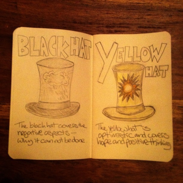 061111_ black and yellow hats (05/50 + 06/50 #nanodrawmo)