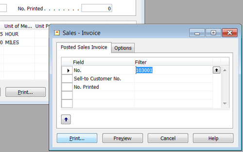 Missing Sales Invoice - Print Sales Invoice