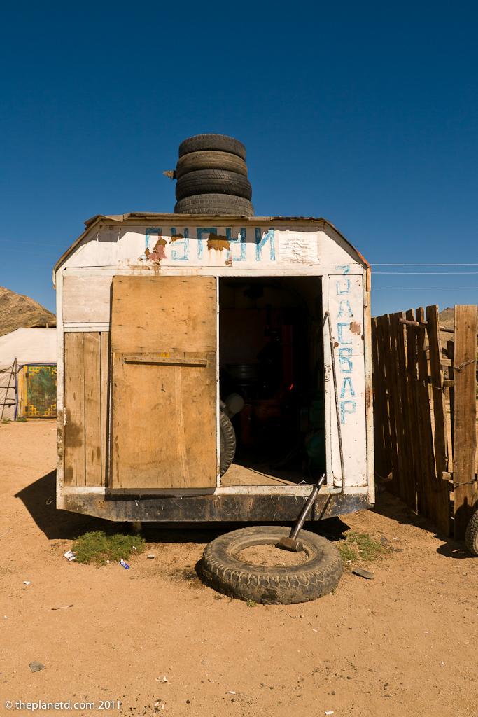 A Tire Shop in Mongolia