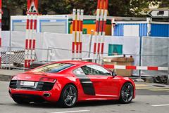 5.2 FSI (Lambo8) Tags: red horse car rouge switzerland photo hp nikon italia power suisse geneva d 8 s ferrari 200 28 af gt nikkor audi ge 80 genve lamborghini f28 v10 ch 52 80200mm quattro r8 fsi 80200 80mm 200mm afd d80 hypercar worldcars