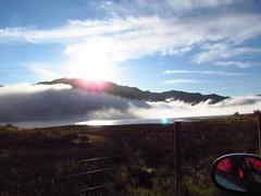 Loch Arklet Mist (pinkpebbleperson) Tags: blue autumn sky mist lake misty clouds canon scotland action stirling powershot loch trossachs unedited sooc arklet sx30is
