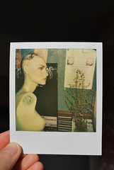 mannequin (Ben Wolfarth) Tags: old flowers portrait woman black colour film mannequin make up bar vintage project hair poster lens toy polaroid photography cafe lomo lomography close board flash bald jazz first retro plastic shade 600 posters instant analogue flush armless impossible impulse mello tagle raggle px680color