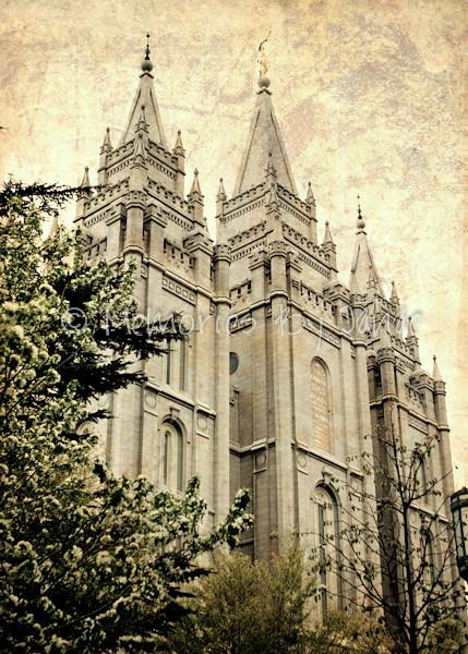 Salt Lake Vintage LDS Temple Prints -6