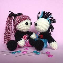 Amigurumi Girl Pink Punk Voodoo Doll (cutedesigns) Tags: pink white black cute japanese handmade zombie crochet emo goth cream pins creepy plush yarn kawaii horror amigurumi voodoodoll