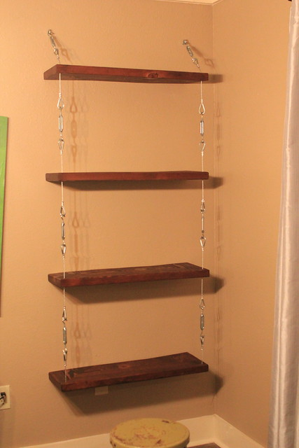 Diy Steel Cable And Turnbuckle Shelves Kara Paslay Design