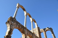 Anjar, Umayyad city, al-Walid I, 705-15, great palace (12) (Prof. Mortel) Tags: lebanon umayyad anjar