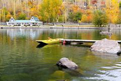 Autumnic Boat :) (Amir Mukhtar Mughal | www.amirmukhtar.com) Tags: autumn trees pakistan lake reflection water colors canon landscape boat rocks colours scenic mughal mughals skardu baltistan pakistanphotos pakistanimages pakistanpictures lakelowerkachura lakekachura amirphotog001158skardulakekachura
