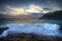 Port d'Alon 1 (marcovdz) Tags: sunset sea mer seascape france rocks wave provence vague var hdr coucherdesoleil rochers 3xp saintcyrsurmer portdalon