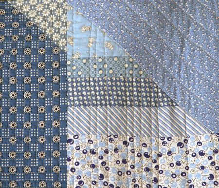 Blue Skies Stash Quilt - Detail