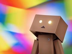(Gurooo) Tags: light painting toy figure picnik danbo revoltech danboard