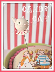 peppermint candy cat pin topper (Pinks & Needles (used to be Gigi & Big Red)) Tags: holiday pincushion etsy gigiminor pintoppers sewingpin