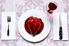 The Scarlet Supper (Zack Ahern) Tags: dinner scarlet blood heart wine surreal plate eat supper bleeding zack ahern