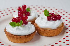 Lemon Tartlets (kulinarno) Tags: lemon curd currants tartlets