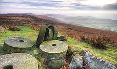 the peaks and it's stones (gobayode photography...times) Tags: peakdistrict stanage highpeak hathersage millstones manandnature stannage derbyshirepeakdistrict derbyshirelandscape peakstones peakmillstones