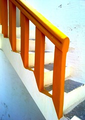 yellow steps in a sunny day