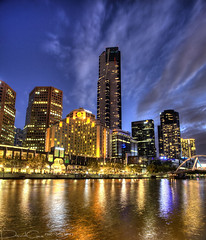 Southbank (The Devil in the Detail) Tags: city detail skyline modern photoshop canon reflections river evening raw australia melbourne southbank yarra 1740mm hdr 3xp photomatix tonemapped enhancer 5dmarkii